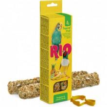 RIO Палочки для волнистых попугаев и экзотических птиц с тропическими фруктами, 2х40г