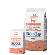 Monge сухой корм монопротеиновый для взрослых кошек с лососем