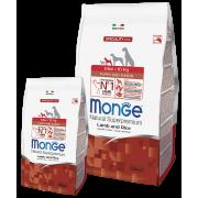 Monge сухой корм для щенков мини пород с ягненком и рисом