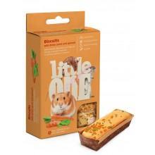 Little One Бисквиты для мелких грызунов с морковью и шпинатом, 5*7г