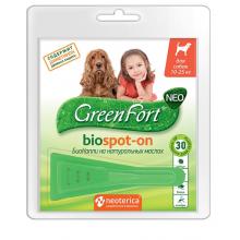 GREEN FORT Neo Биокапли от блох и клещей для собак весом 10-25 кг
