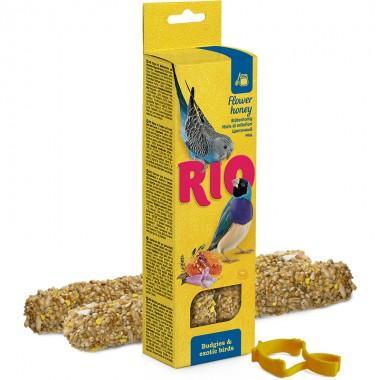 RIO Палочки для волнистых попугаев и экзотических птиц с медом, 2х40г