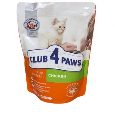 Club 4 Paws 0,3 кг Премиум сухой корм для котят с курицей