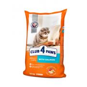 Club 4 Paws Премиум сухой корм  для взрослых кошек с лососем