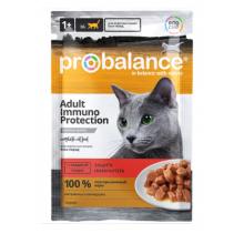 ProBalance Консервированный корм Immuno Protection Cat (Говядина в соусе) пауч