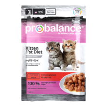 ProBalance Консервированный корм 1'st Diet Kitten (Телятина в желе)
