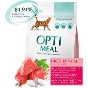 """""""Optimeal"""" сухой корм для кошек с высоким содержанием телятины"""