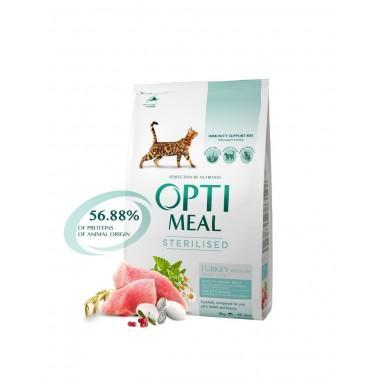 """""""Optimeal"""" 4 кг сухой корм для кастрированных котов и стерилизованных кошек с индейкой и овсом"""