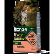 Monge сухой корм для взрослых кошек с лососем