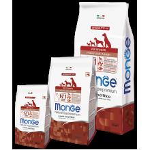 Monge сухой корм для щенков всех пород с ягненком и рисом