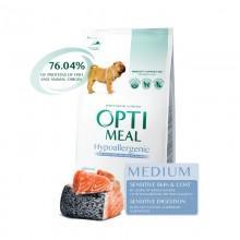 """""""Optimeal"""" защита иммунитета сухой корм для собак средних пород (гипоаллергенный) с лососем"""