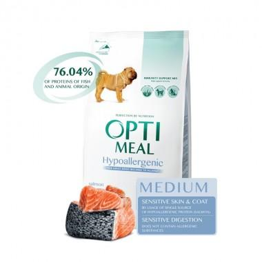 """""""Optimeal"""" 12 кг защита иммунитета сухой корм для собак средних пород (гипоаллергенный) с лососем"""