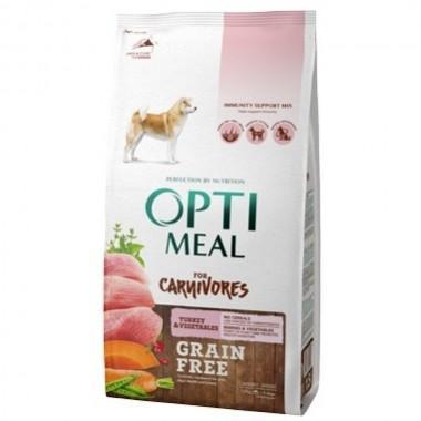 """""""Optimeal"""" 10 кг Беззерновой полнорационный сухой корм для собак всех пород с индейкой и овощами"""