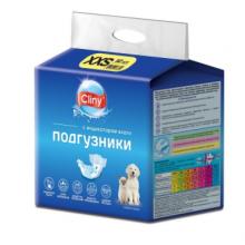 Cliny Подгузники д/собак 1-2.5 кг размер  XXS  (12 шт)