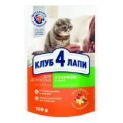 Club 4 Paws Премиум консервированный корм для кошек с курицей в соусе