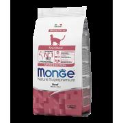 Monge сухой корм монопротеиновый для стерилизованных кошек с говядиной
