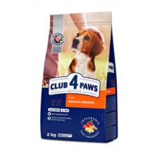 Club 4 Paws Премиум сухой корм для взрослых собак средних пород