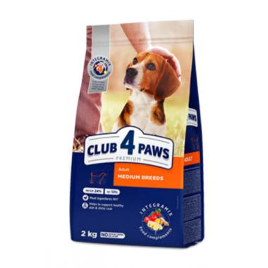 Club 4 Paws 2 кг Премиум сухой корм для взрослых собак средних пород