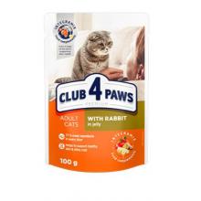 Club 4 Paws Премиум консервированный корм для кошек с кроликом в желе