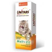Unitabs витаминная паста с таурином для вывода шерсти Malt+Vit, 120 мл
