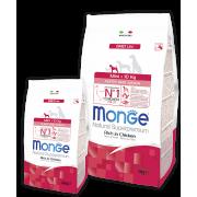 Monge сухой корм для щенков мелких пород с цыпленком