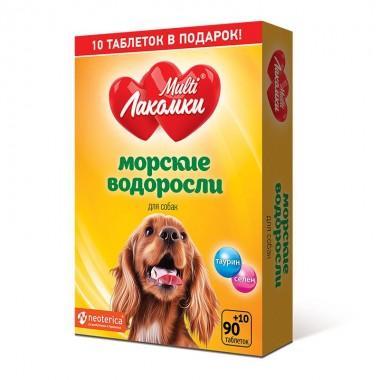 Добавка для собак МУЛЬТИЛАКОМКИ L107 Морские водоросли 100 штук