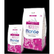 Monge сухой корм для взрослых собак весом до 2 кг c цыплёнком
