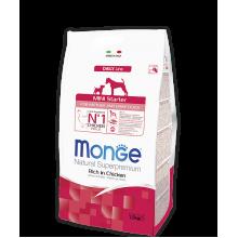 Monge сухой корм для щенков мелких пород (цыпленок с рисом) с начала прикорма