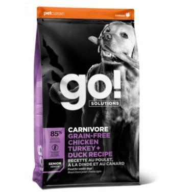 GO Беззерновой корм для Пожилых Собак всех пород 4 вида мяса: Индейка, Курица, Лосось, Утка 1,59 кг весовка