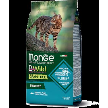 Monge сухой корм для стерилизованных кошек с тунцом беззерновой