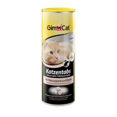 Gimcat Таблетки для кошек с сыром Маскарпоне и биотином, 425 гр