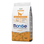 Monge сухой корм для кошек низкокалорийный с индейкой