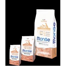 Monge сухой корм для щенков всех пород с лососем и рисом