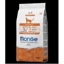 Monge сухой корм монопротеиновый для стерилизованных котов с уткой