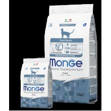 Monge сухой корм монопротеиновый для стерилизованных котов с форелью