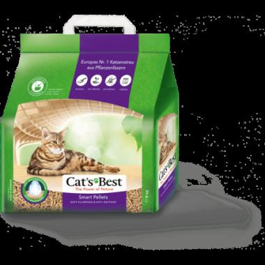 CAT'S BEST Smart Pellet древесный комкующийся наполнитель, гранулы (для длинношерстных кошек)