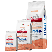Monge Dog  Mini Adult Salmon&Rice 26/14    Корм для взрослых собак мелких пород с лососем и рисом