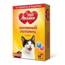 Добавка для кошек МУЛЬТИЛАКОМКИ L108 Активный питомец 70 штук