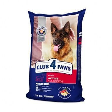 Сухой корм премиум Club 4 Paws для взрослых активных собак всех пород