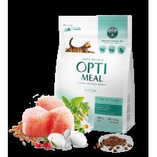 """Сухой корм для котят с курицей """"Optimeal"""" защита иммунитета 0,2кг."""