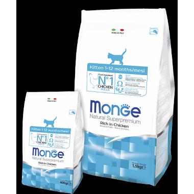 Monge сухой корм монопротеиновый для котят с форелью