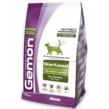Gemon сухой низкокалорийный корм для стерилизованных кошек с индейкой