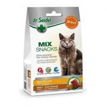 Dr. Seidel Snacks. Микс 2в1. Лакомство для кошек - для красивой шерсти и для вывода шерсти 60г