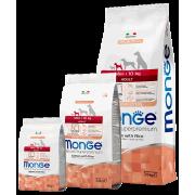 Monge сухой корм для взрослых собак мелких пород с лососем и рисом