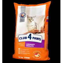 Премиум сухой корм для взрослых кошек Club 4 Paws. Поддержка здоровья мочевыводящей системы