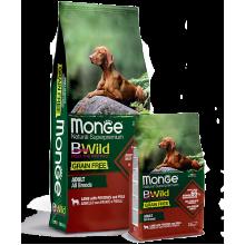 Monge сухой корм беззерновой для взрослых собак всех пород с ягненком