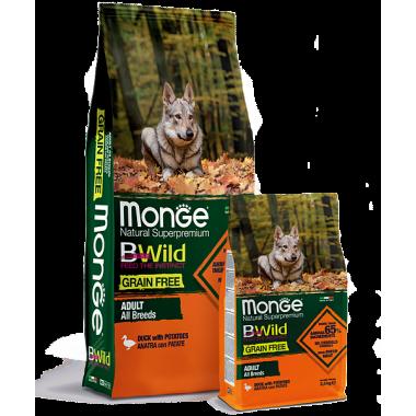 Monge сухой корм для собак всех пород беззерновой утка с картофелем