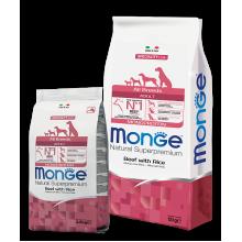 Monge сухой корм для взрослых собак всех пород с говядиной и рисом