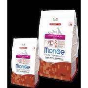 Monge сухой корм для взрослых собак весом до 2 кг c ягненком, рисом, картофелем
