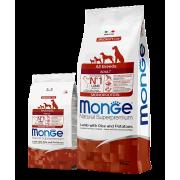 Monge сухой корм СПЕЦИАЛЬНЫЙ для взрослых собак всех пород с ягненком, рисом и картофелем